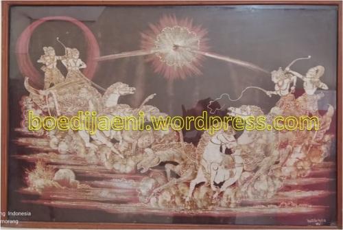 lukisan perang baratayuda arjuna